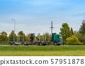 Empty logging truck 57951878