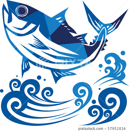 上面的鰹魚圖像的圖像 57952816