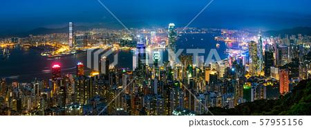 香港夜景從太平山頂 57955156