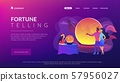 Fortune telling concept landing page 57956027