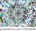 diamond structure extreme closeup and kaleidoscope 57956896