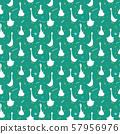 Cute Goose Seamless Pattern, Cartoon Hand Drawn Goose Doodles Vector Background Illustration . 57956976