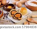 Egg yolk cakes 57964836