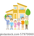 Three generation family and housing image 57970060