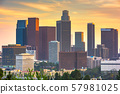 Los Angeles, California, USA downtown skyline 57981025
