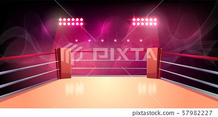 background of boxing ring, illuminated arena 57982227