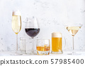 Assortment of alcoholic drinks 57985400