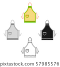 Apron icon in cartoon,black style isolated on white background. Kitchen symbol stock vector 57985576