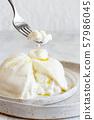 Italian cheese burrata 57986045