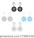 Earrings icon of vector illustration for web and mobile 57986348