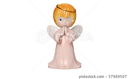 Cute angel sculpture, front view 57989507