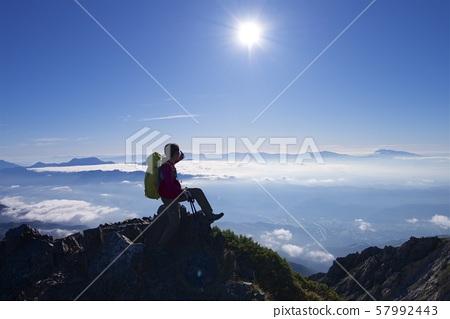 시로우마다 케에서 백마 鑓ヶ岳에 등산로 (백마 연봉, 나가노 현 北安曇) 57992443