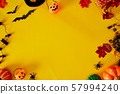Collection of Halloween party objects forming a 57994240