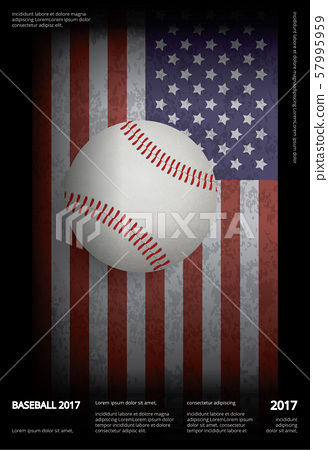 Baseball Championship Sport Poster Design Vector Illustration 57995959