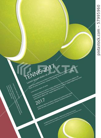 Tennis Championship Poster Vector illustration 57995960