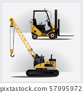 Construction Vehicles Vector Illustration 57995972