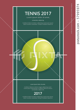 Tennis Championship Poster Vector illustration 57995974