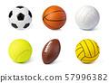 sport balls set 57996382