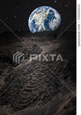 mountains on the moon .  image elements furnished 58000842
