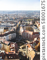 Cityscape panorama of residential houses in Prague 58001675