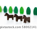 騎馬馬動物 58002141