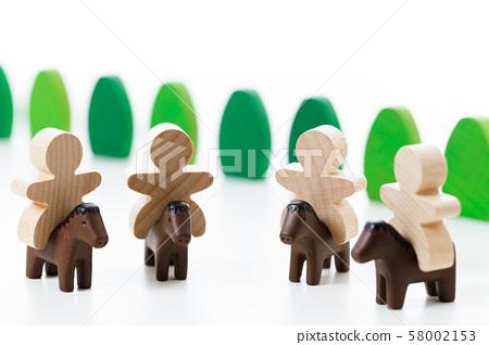 騎馬馬動物 58002153
