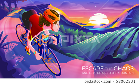 Escape the chaos and go up to the mountain 58002531
