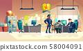 Criminal interrogation in police cartoon vector 58004091