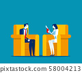 Business person consulting a doctor. Concept 58004213