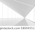 Modern white space interior with triangle shape 3d render 58004551