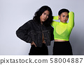 Two Fashion Young Unisex Asian Woman and man 58004887