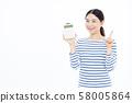 30多歲的女性計算器 58005864