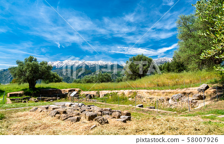 Ruins of Ancient Sparta in Greece 58007926
