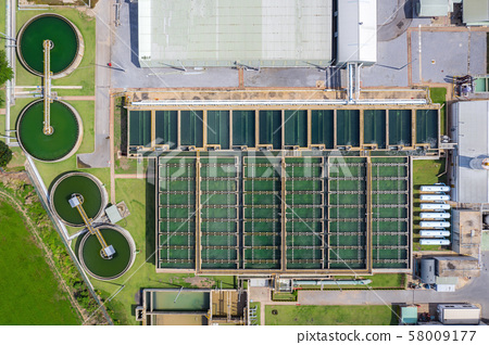 Aerial view of The Solid Contact Clarifier Tank 58009177