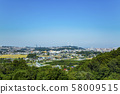 View of the city from the suburbs of Sendai 58009515