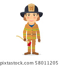 Firefighter man character 58011205