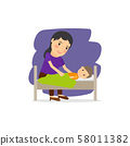 Mother care for the child 58011382
