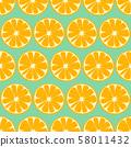 Orange fruit seamless pattern background. Vector illustration. 58011432