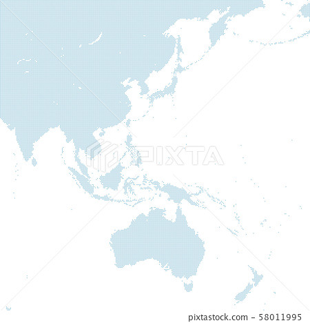 dotted east asia map large size type1 58011995