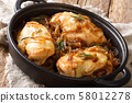 French chicken onion fillet cooked with gruyere 58012278