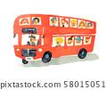 빨간 이층 버스 58015051