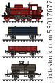 The classic freight steam train 58017677