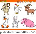 funny farm animal cartoon characters set 58027245
