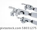 Robotic hand finger point 58031275