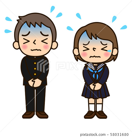 Men and women in school uniform 58031680