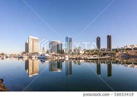 San Diego, California, USA Cityscape 58033419