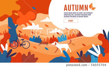 Autumn, Happy Thanksgiving, Banner Design 58035704