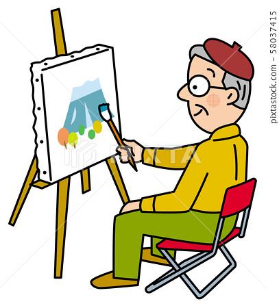 週日畫家的愛好 58037415