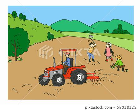 農業耕地的人 58038325