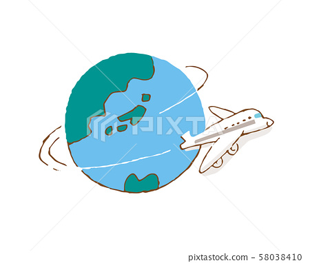 Earth and plane 58038410